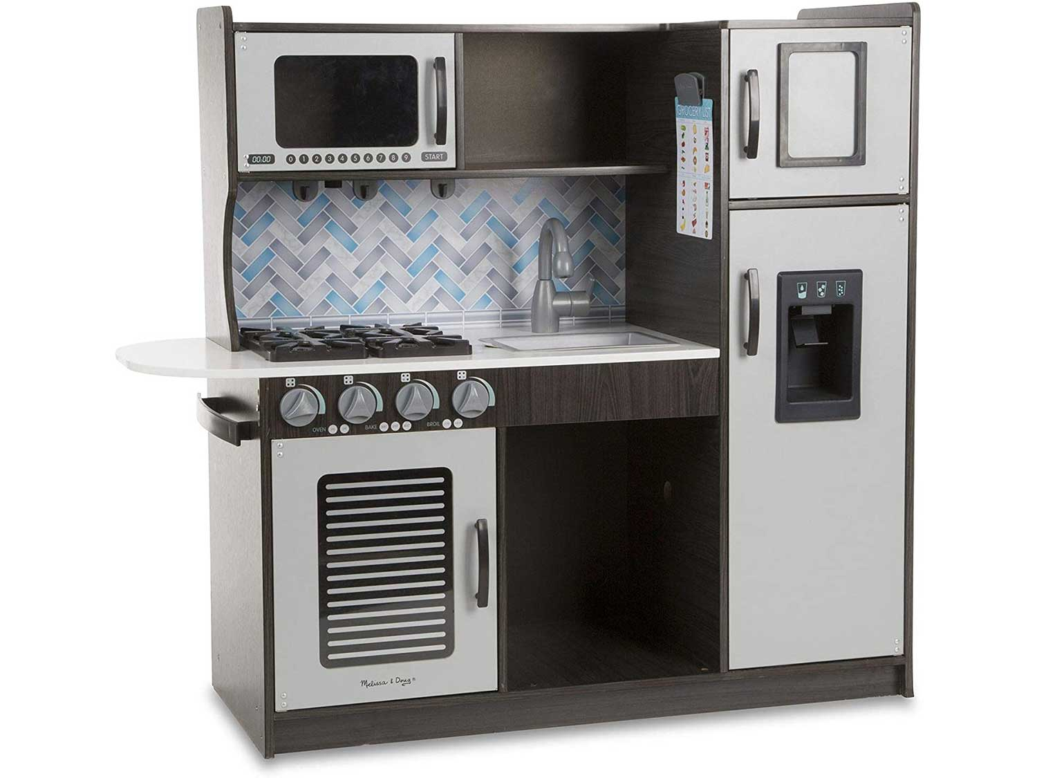 Melissa & Doug Wooden Chef's Pretend Play Toy Kitchen – Charcoal