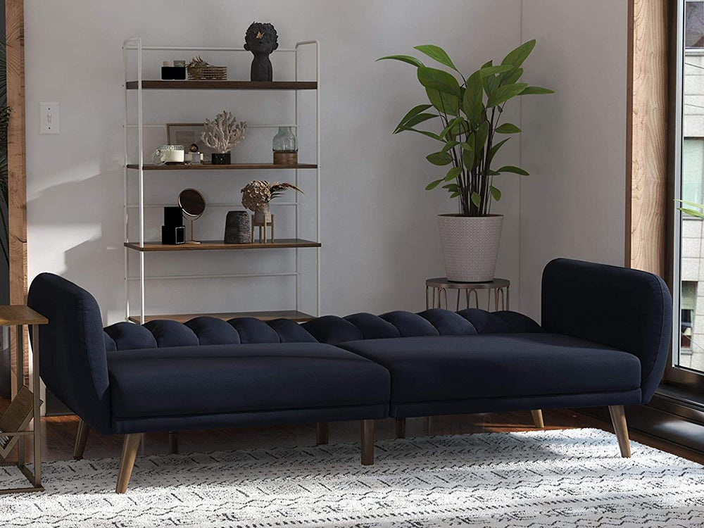 Black sofa futon