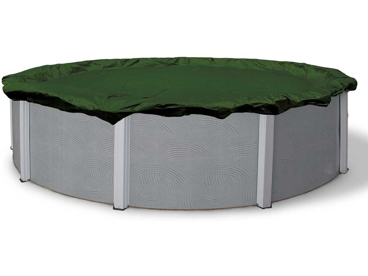 Blue Wave BWC810 Silver 12-Year 28-ft Round Above Ground Pool Winter Cover,Forest Green