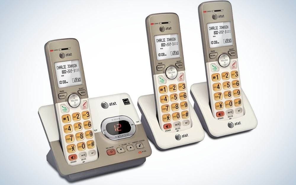 The AT&T EL52313 3-Handset Expandable Cordless Phone with Answering System is the best for seniors.