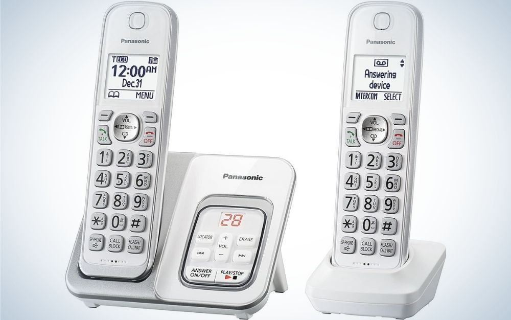 The Panasonic DECT 6.0 Expandable Cordless Phone is the runner-up.