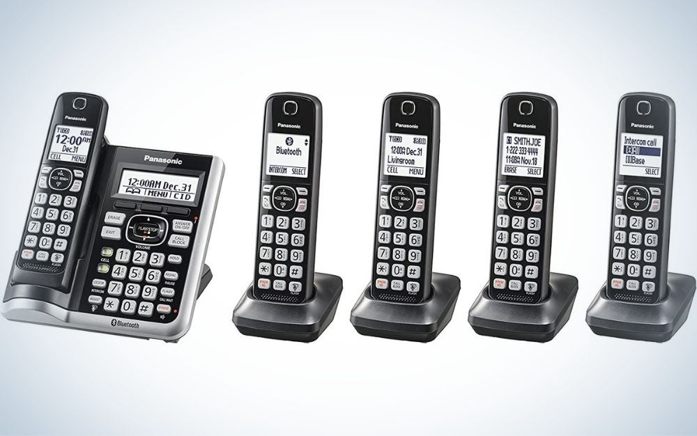 The Panasonic Link2Cell Bluetooth Cordless Phone System is the best overall.