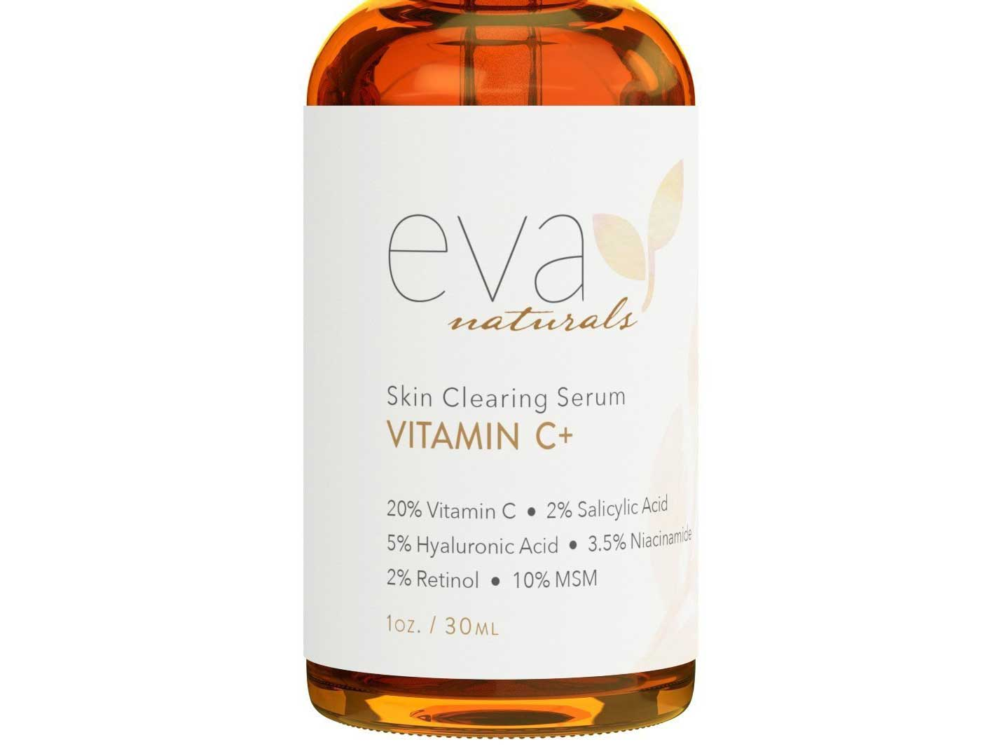 Vitamin C Serum Plus 2% Retinol, 3.5% Niacinamide, 5% Hyaluronic Acid, 2% Salicylic Acid, 10% MSM, 20% Vitamin C - Skin Clearing Serum - Anti-Aging Skin Repair, Supercharged Face Serum (1 oz)