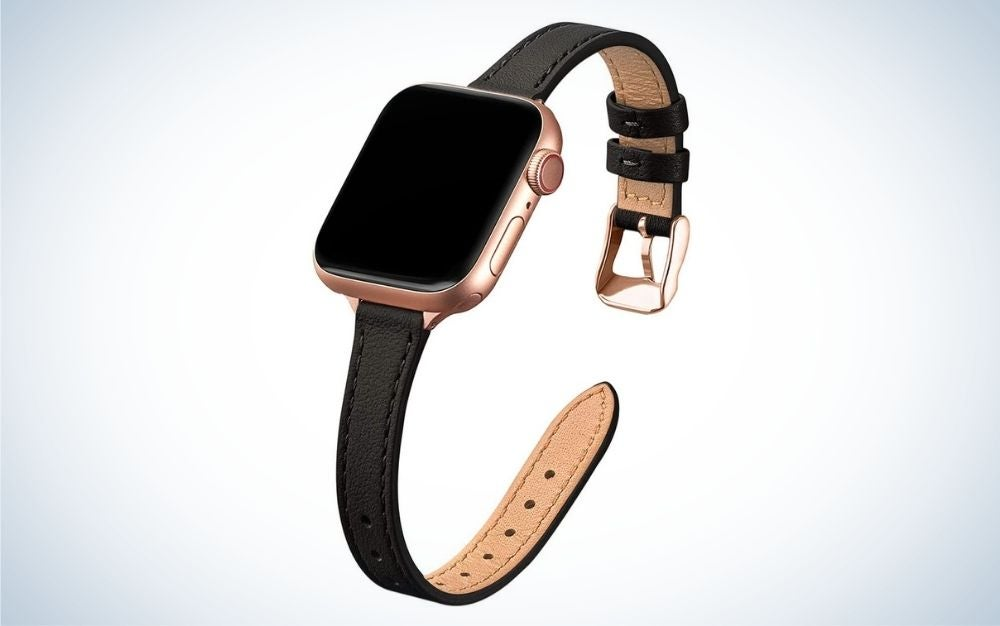 STIROLL Slim Leather Bands are the best slim Apple Watch bands.