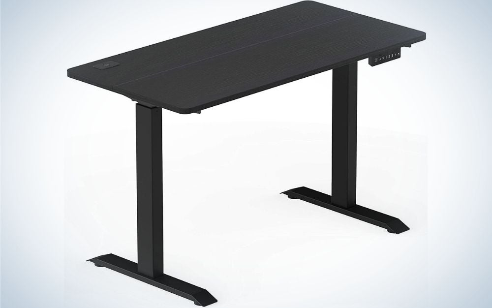 The SHW Memory Preset Electric Height Adjustable Standing Desk is the best budget pick.