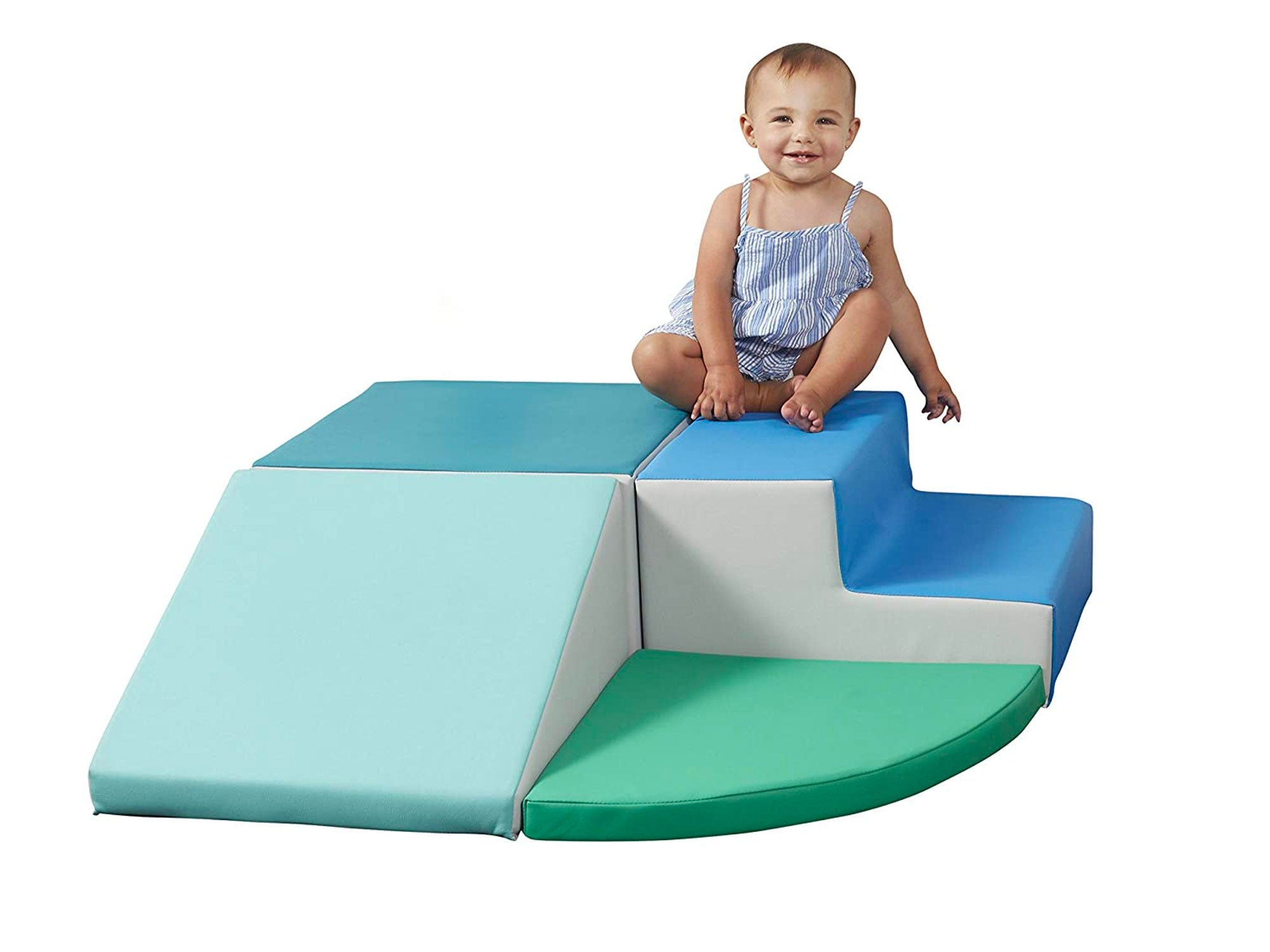 SoftScape Toddler Playtime Corner Climber, Indoor Active Play Structure for Toddlers and Kids, Safe Soft Foam for Crawling and Sliding