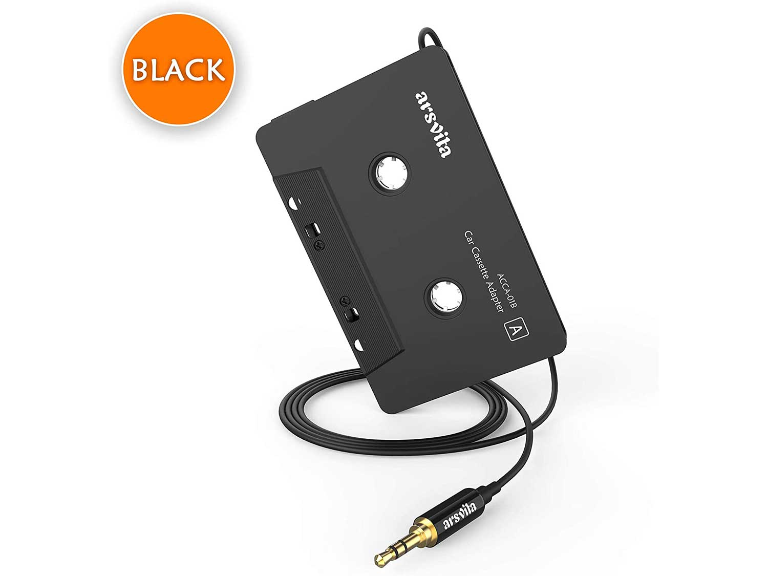 Arsvita Car Audio Cassette to Aux Adapter, 3.5 MM Auxillary Cable Tape Adapter