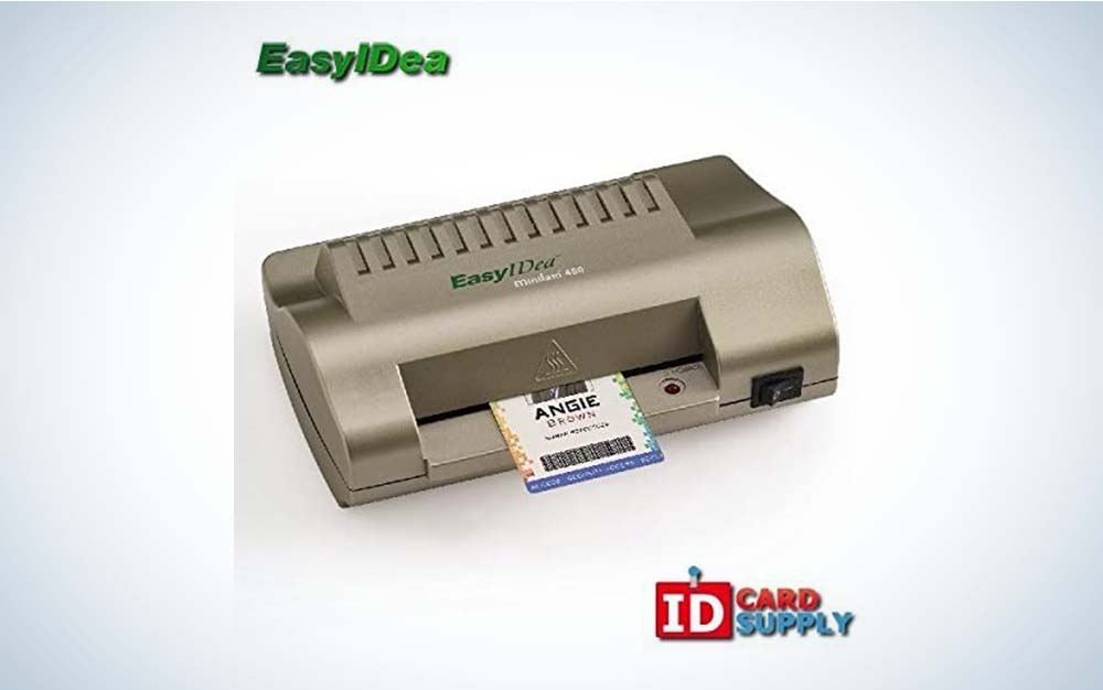 The EasyIDea Premium ID Card and Badge Laminator is best for cards and badges.
