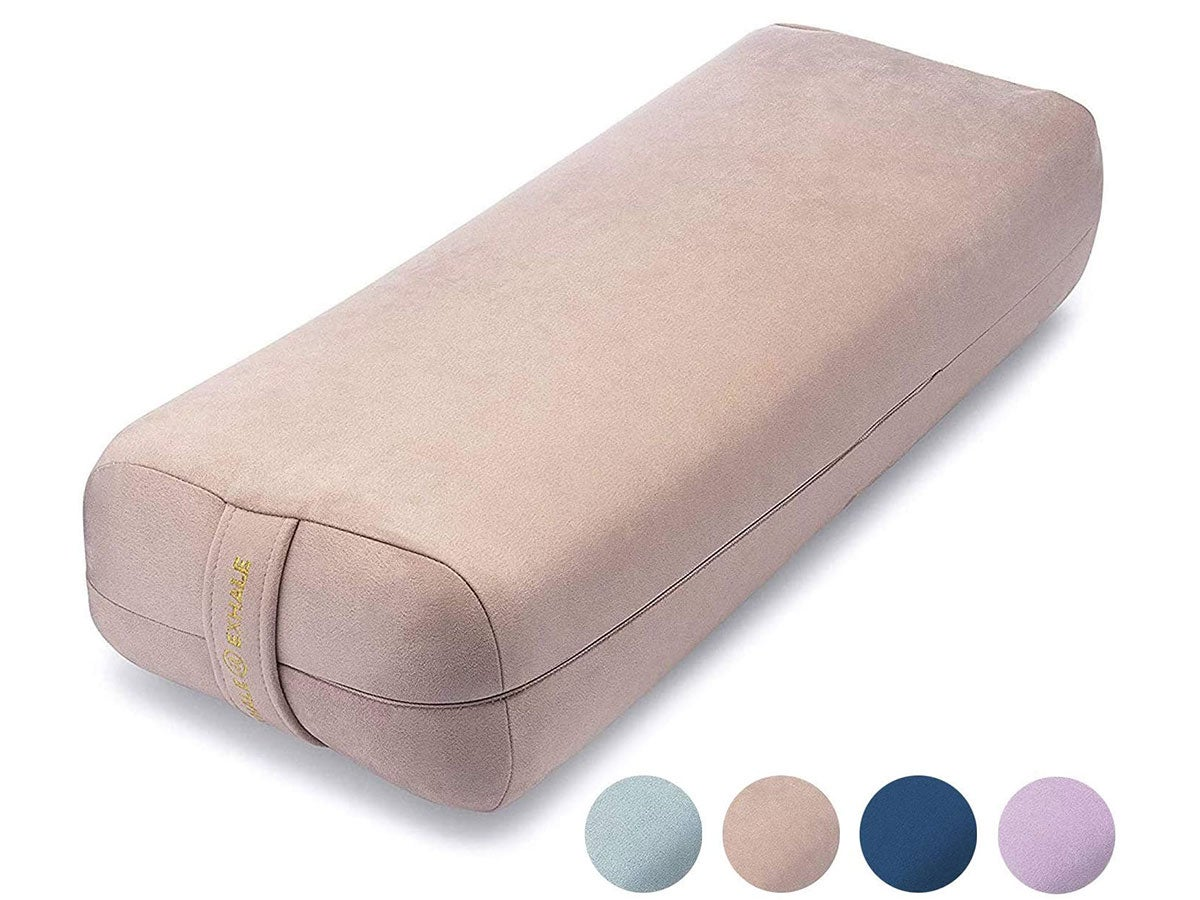 jna Yoga Bolster Pillow for Meditation and Support - Rectangular Yoga Cushion - Yoga Accessories from Machine Washable with Carry Handle