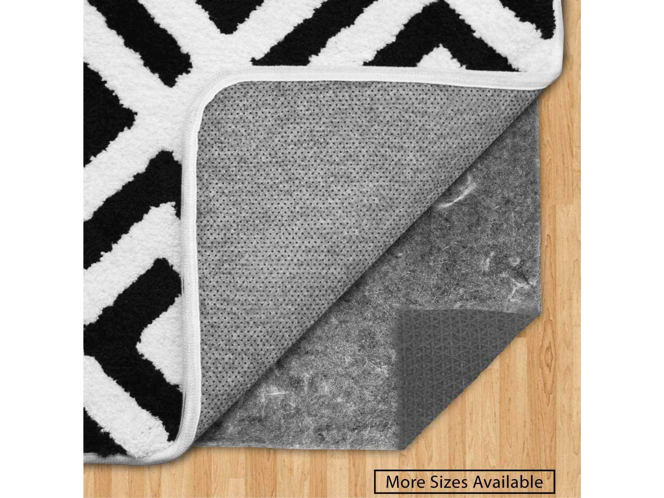 Gorilla Grip Original Felt and Rubber Underside Gripper Area Rug Pad .25 Inch Thick, 8x10 FT, for Hardwood and Hard Floor, Plush Cushion Support Pads for Under Carpet Rugs, Protects Floor