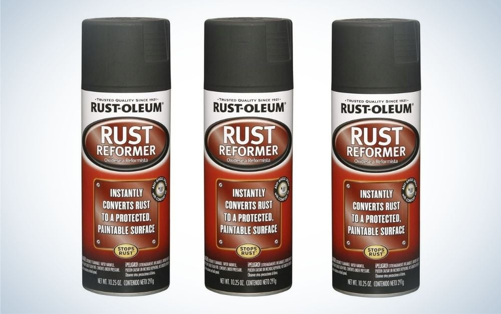 The Rust-Oleum Rust Reformer is the best outdoor furniture treatment for metal furniture.
