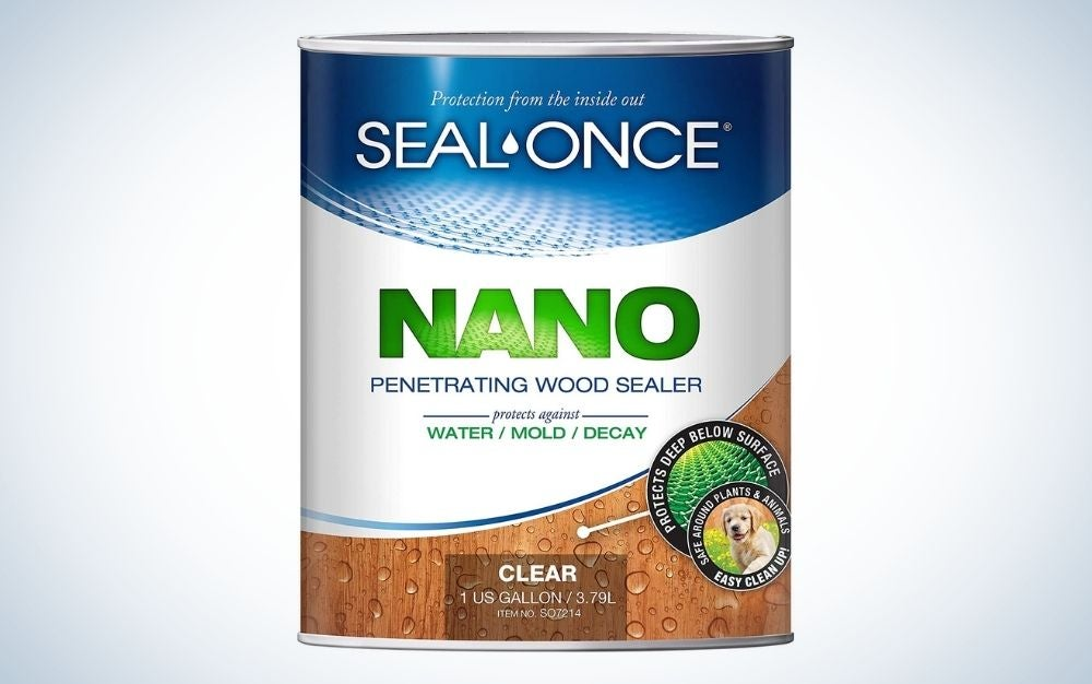 The Seal-Once Nano Guard is the best sealant for wood furniture.