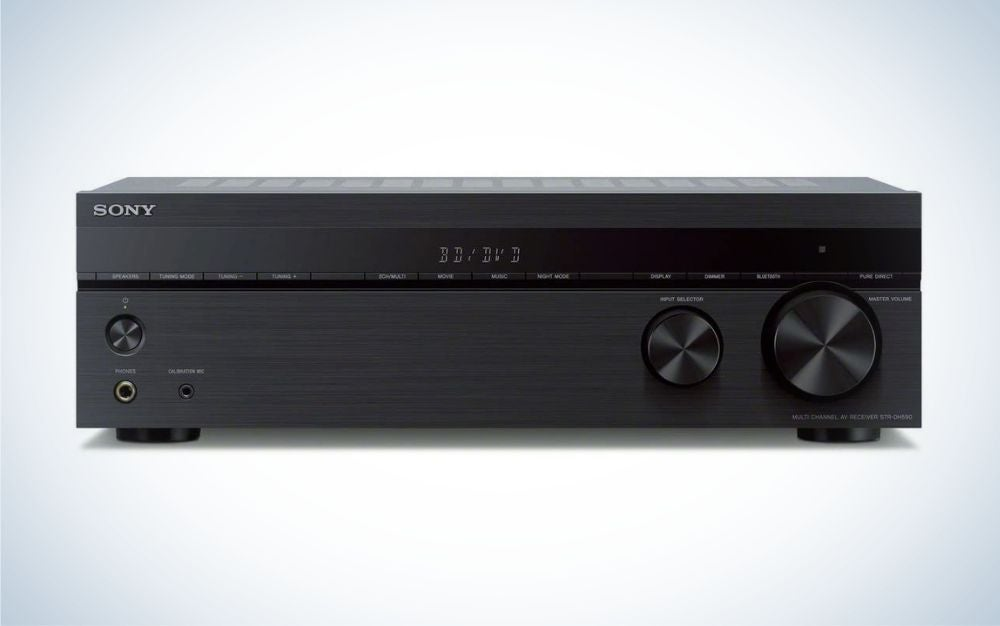 The Sony STRDH590 5.2-ch Surround Sound Home Theater is the best value AV receiver.