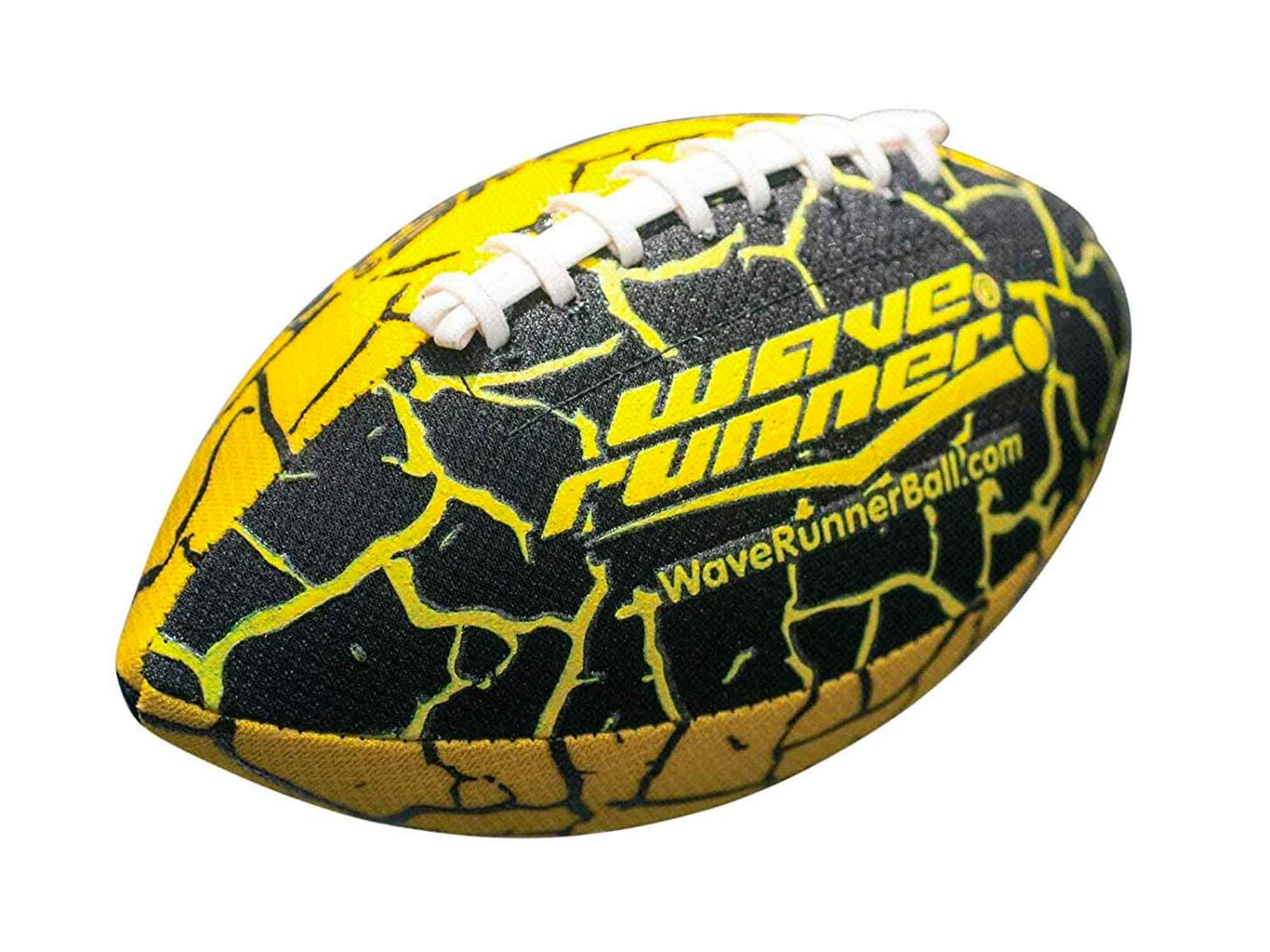 Wave Runner Grip It Waterproof Football- Size 9.25 Inches with Sure-Grip Technology | Let's Play Football in The Water!