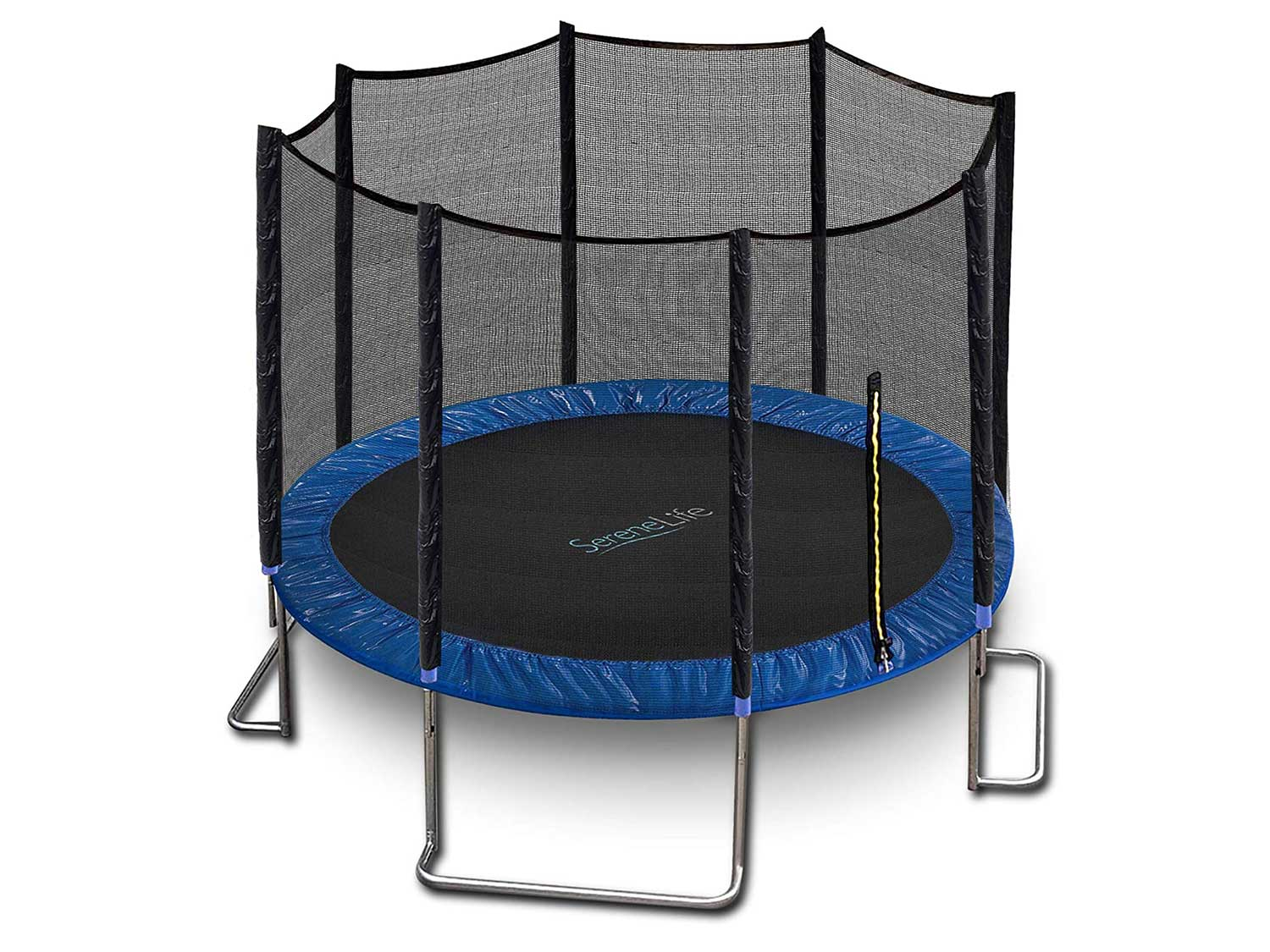 SereneLife Trampoline with Net Enclosure – ASTM Approved, Stable, Strong Kids and Adult Trampoline with Net – Outdoor Trampoline for Kids, Teens and Adults