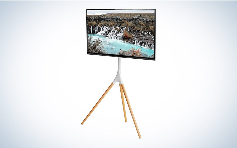 The VIVO White Artistic Easel is the best easel-style TV stand.