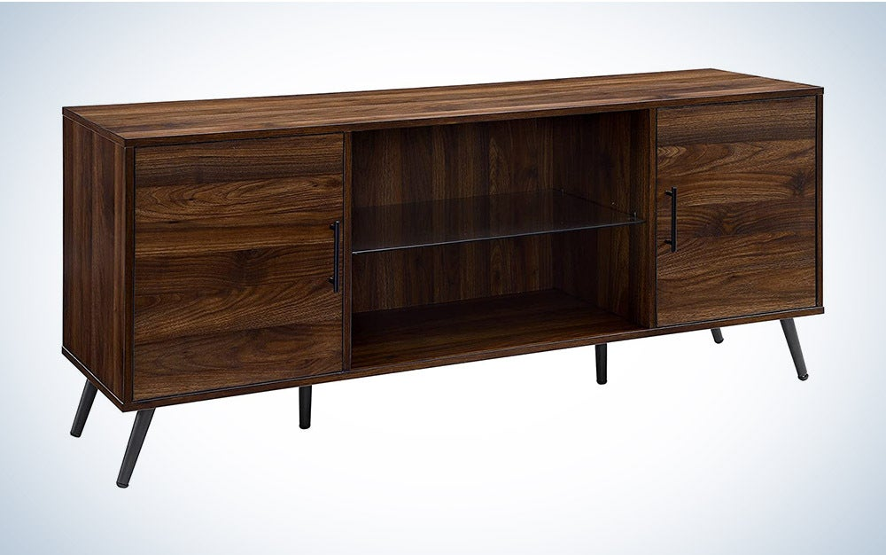 The Walker Edison Englewood Mid Century Modern TV Stand is the best mid-century style.