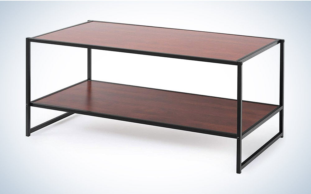 The Zinus Modern Studio Collection TV Media Stand is the best value.