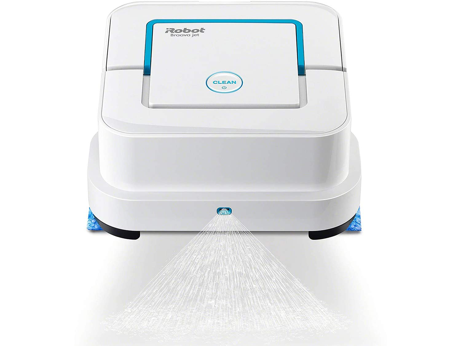 iRobot Braava Jet 240 Superior Robot Mop - App enabled, Precision Jet Spray, Vibrating Cleaning Head, Wet and Damp Mopping, Dry Sweeping Modes
