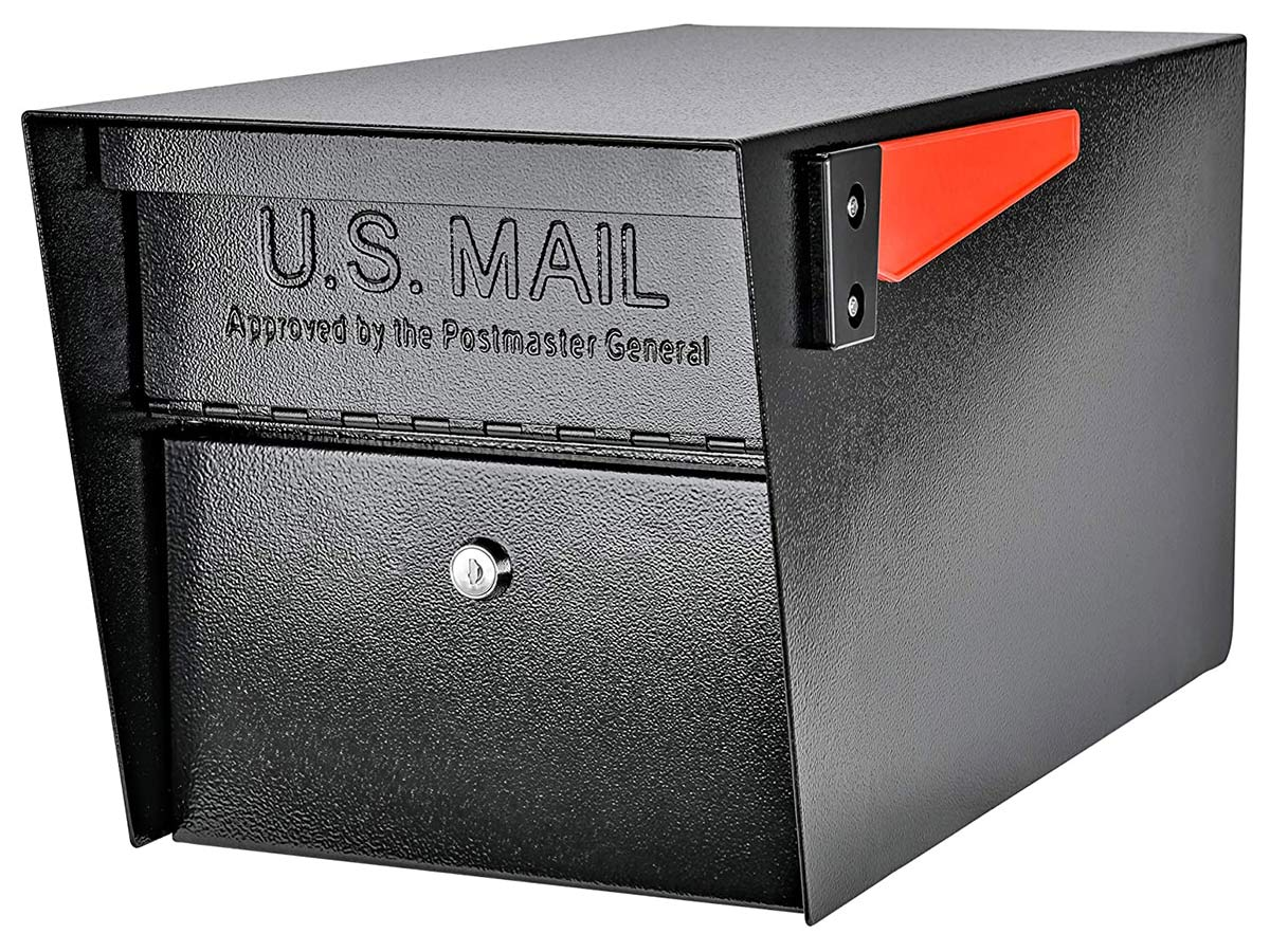 Mail Boss 7506 Mail Manager Curbside Locking Security Mailbox, Black,Large