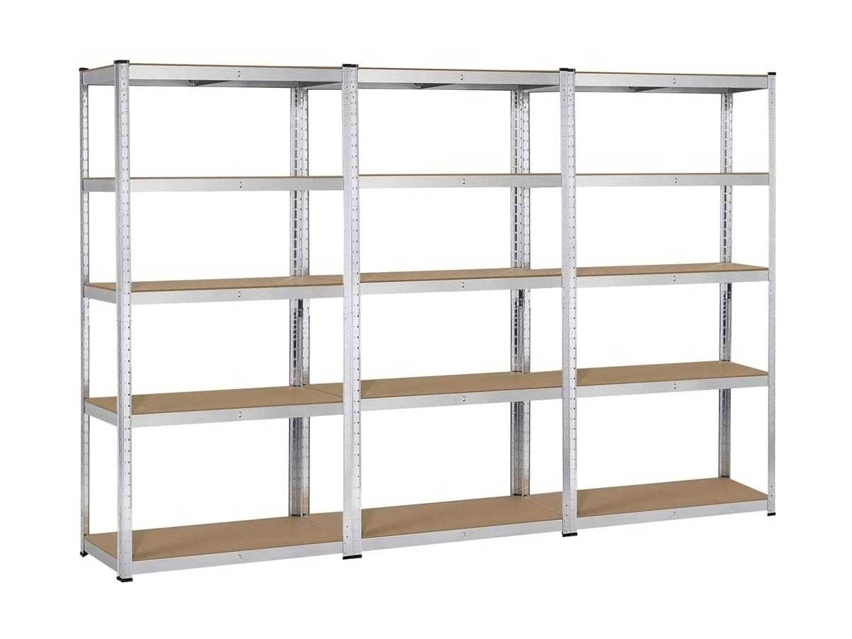 Topeakmart 5 Tier Storage Rack Heavy Duty Adjustable Garage Shelf Steel Shelving Units,71in Height, 3 Bay Garage Shelves