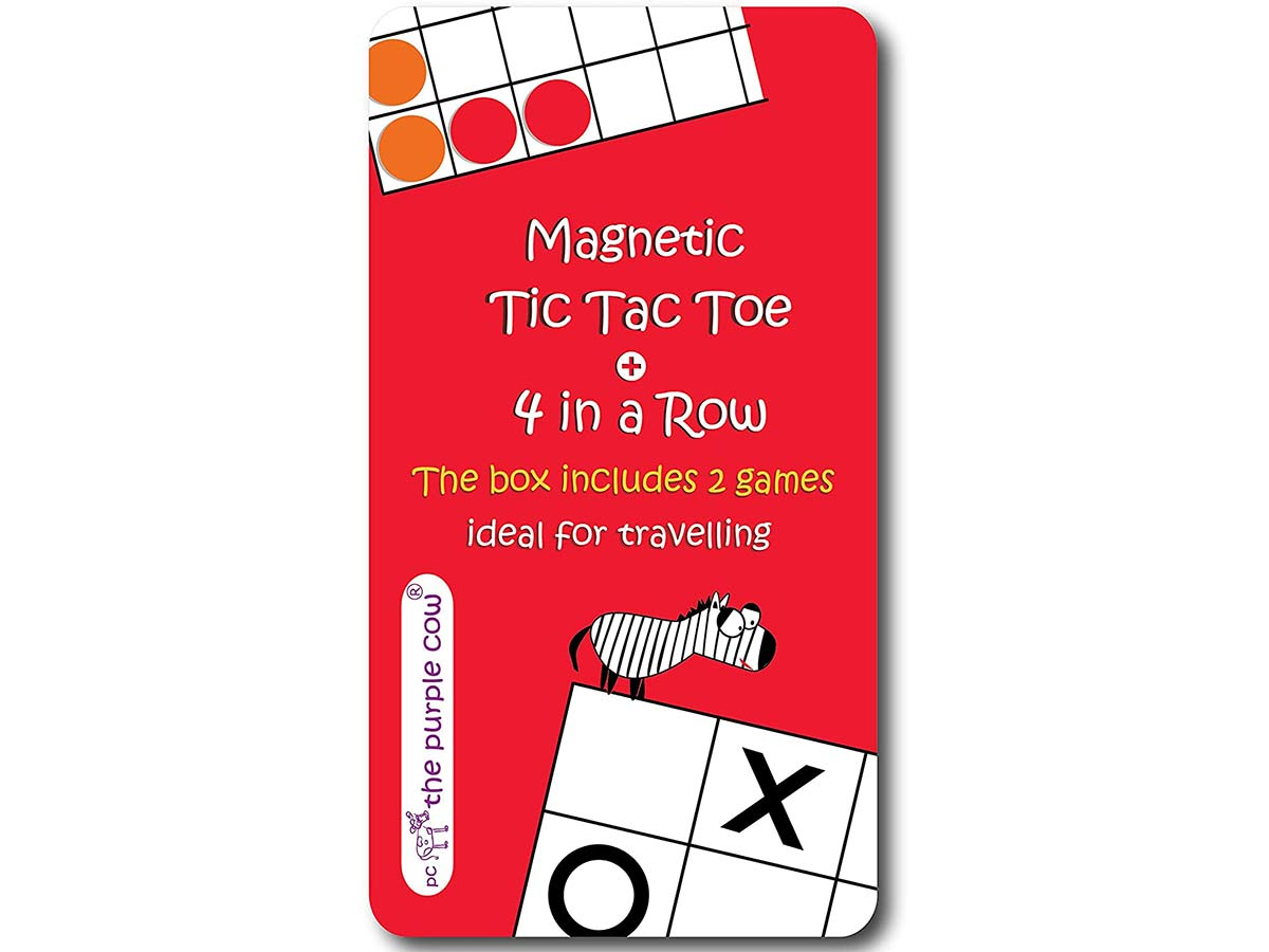 Magnetic Travel Tic Tac Toe - Includes 4 in a Row Game Too - Car Games , Airplane Games and Quiet Games