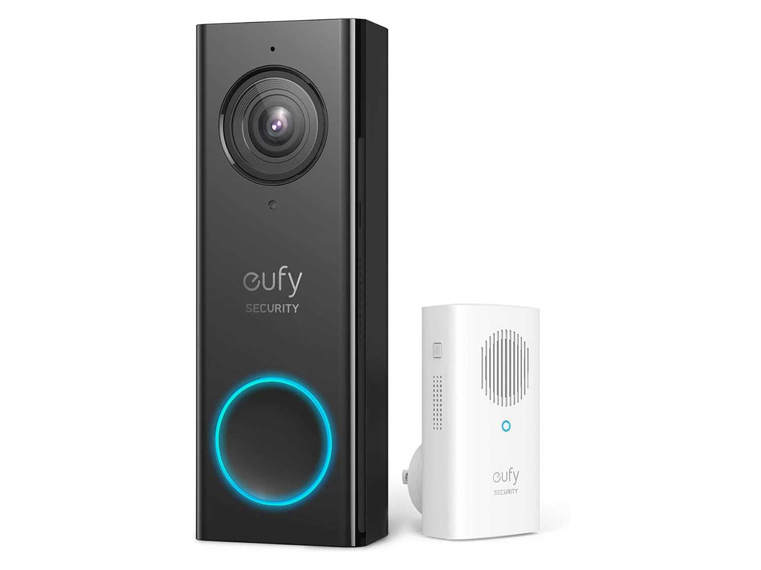 eufy Security, Wi-Fi Video Doorbell, 2K Resolution, No Monthly Fees, Secure Local Storage, Human Detection, 2-Way Audio, Free Wireless Chime-Requires Existing Doorbell Wires