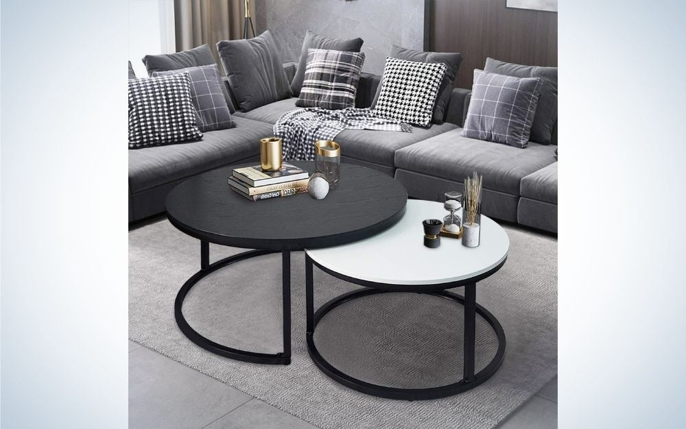 The charaHOME Round Coffee Tables are our pick for the best nesting tables on Amazon.