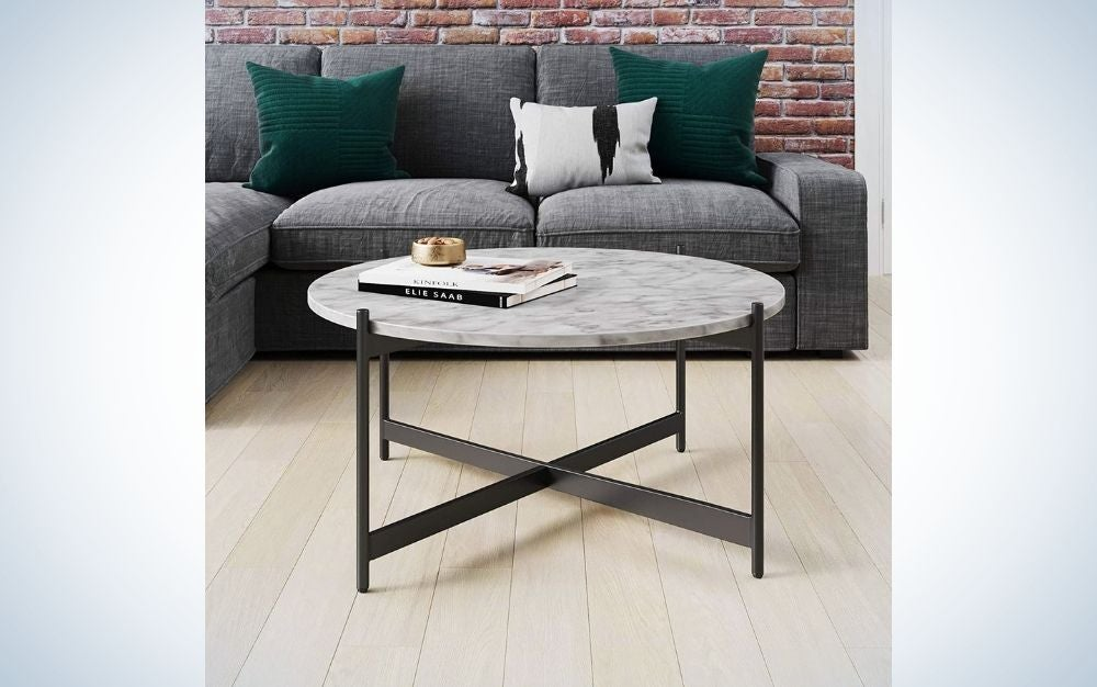 The Nathan James Piper Coffee Table is our pick for the best round coffee table.