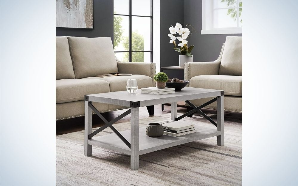 The Walker Edison Sedalia Modern Farmhouse Metal X Coffee Table is our pick for the best overall coffee table on Amazon.