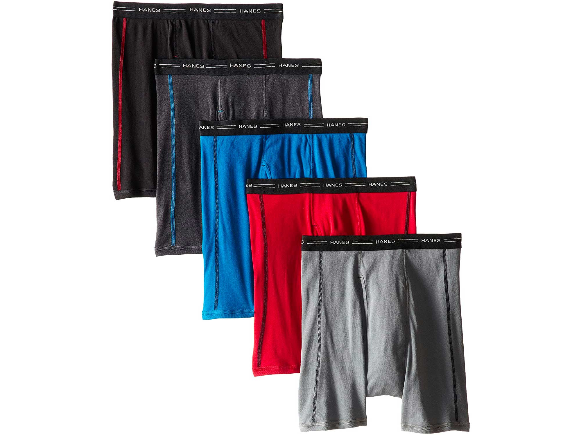 Hanes Men's 5-Pack Sports-Inspired Cool Dry Boxer Brief