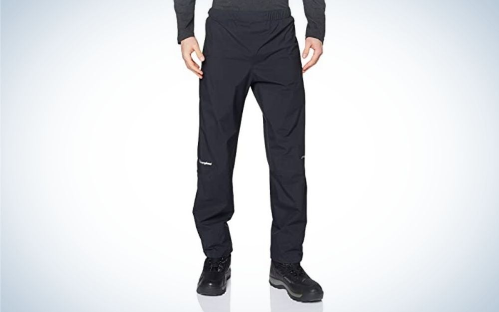 The Berghaus Men's Paclite Gore-Tex Waterproof Pants are the best rain pants overall.