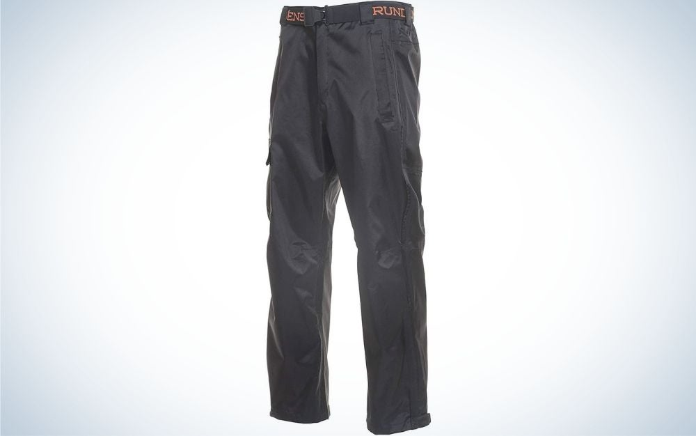 The Grundéns Weather Watch Fishing Pants are the best rain pants for extreme weather.
