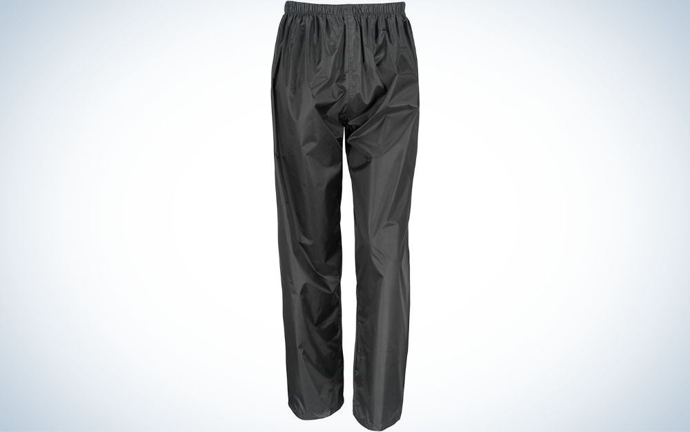 The Result Core Waterproof Rain Trousers are the best value.