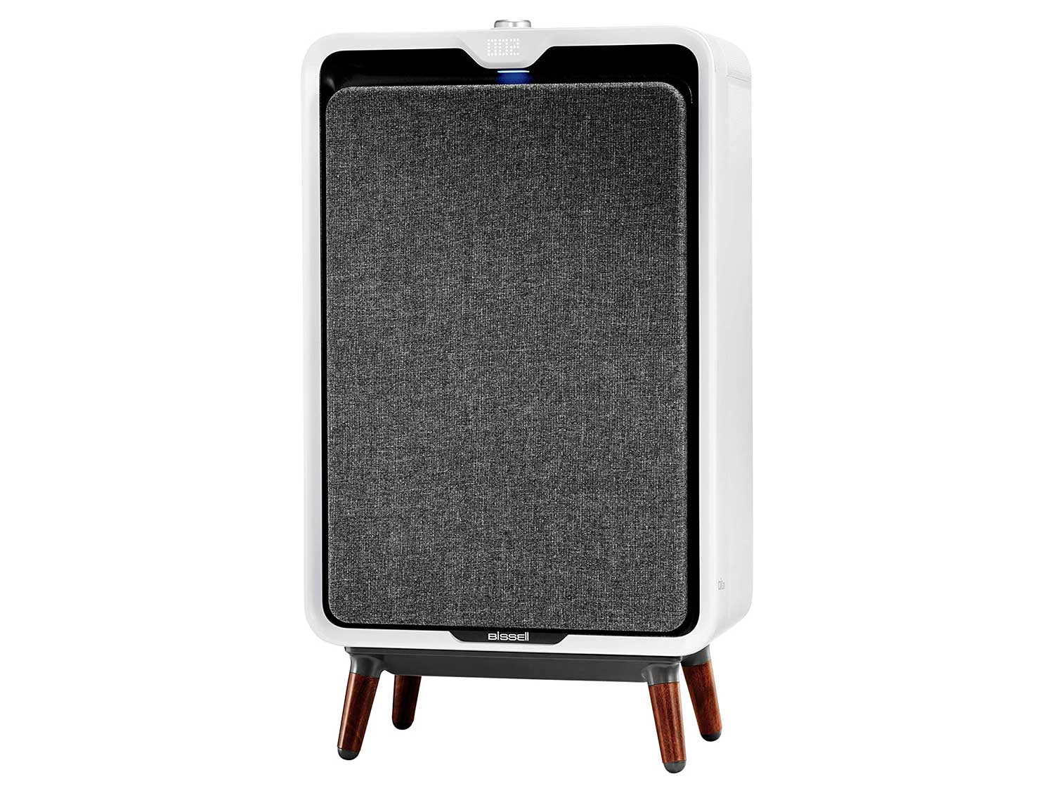 Bissell air320 Smart Air Purifier with HEPA and Carbon Filters for Large Room and Home, Quiet Bedroom Air Cleaner for Allergies, Pets, Dust, Dander, Pollen, Smoke, Odors, Auto Mode, 2768A, White/Grey