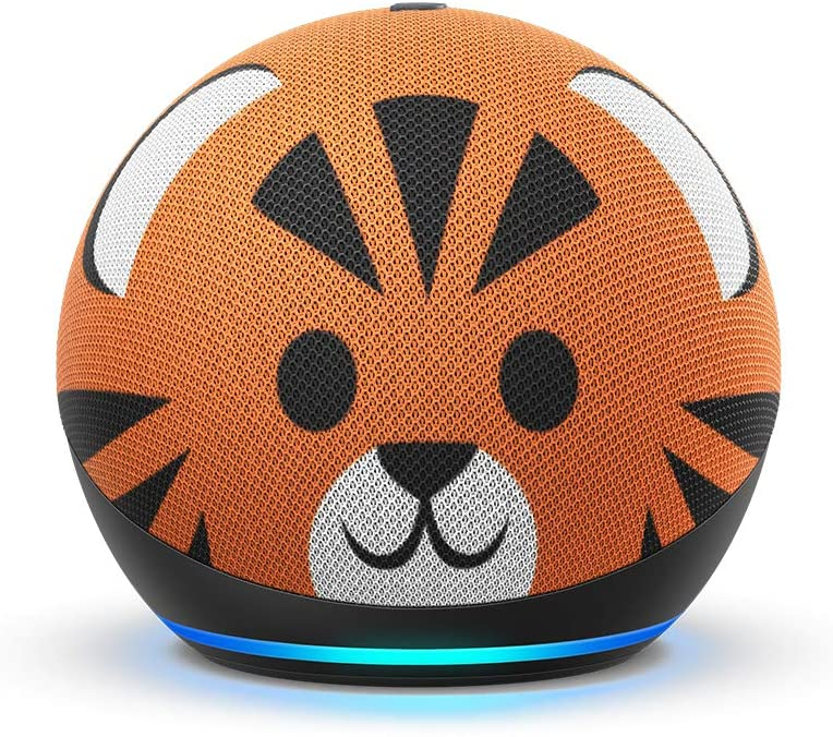 All-new Echo Dot (4th Gen) Kids Edition | Designed for kids, with parental controls | Tiger