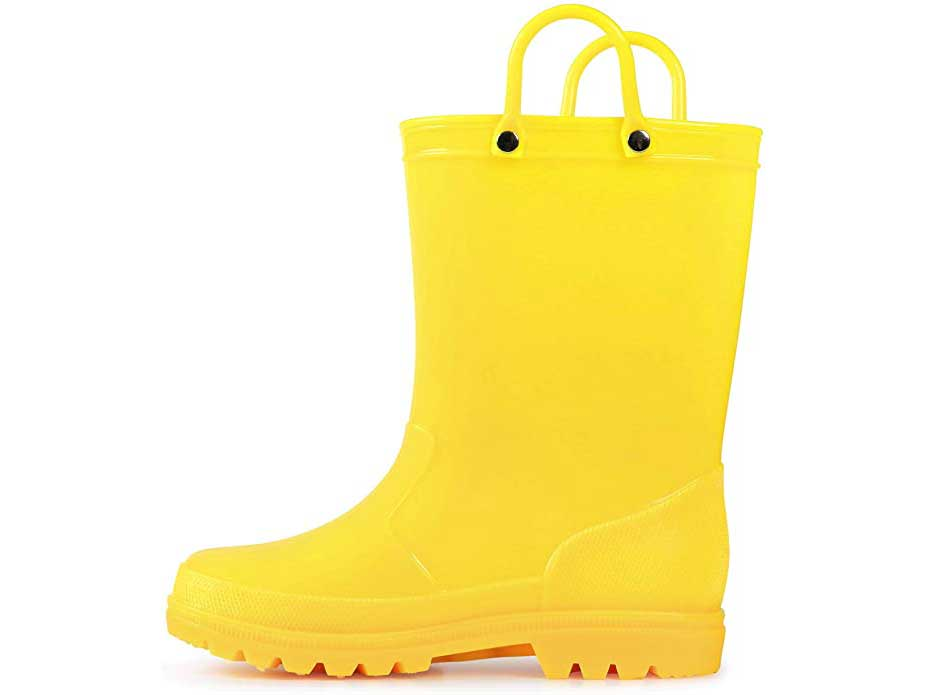 K KomForme Kids Rain Boots, Toddler Rain Boots Environmental Material Boots with Memory Foam Insole and Easy-on Handles