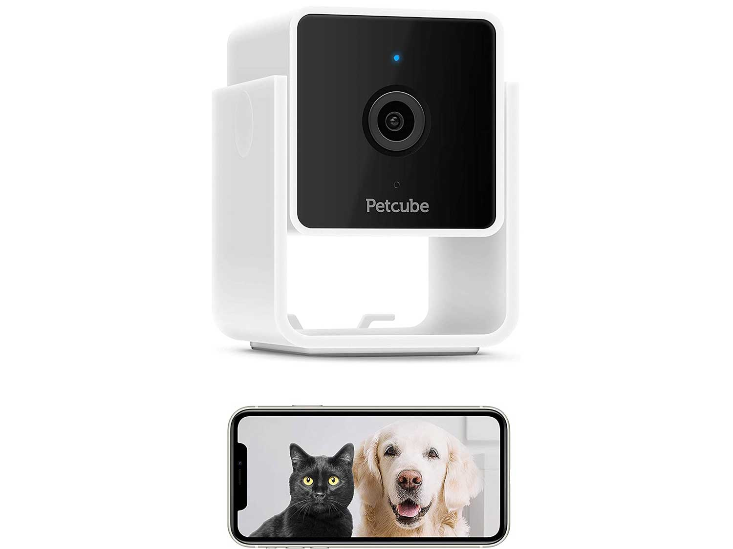[New 2020] Pet Camera, Security Camera, Petcube Cam with Built-in Vet Chat for Cats & Dogs, 1080p HD Video, Night Vision, Two-Way Audio, Magnet Mounting for Entire Home Monitoring