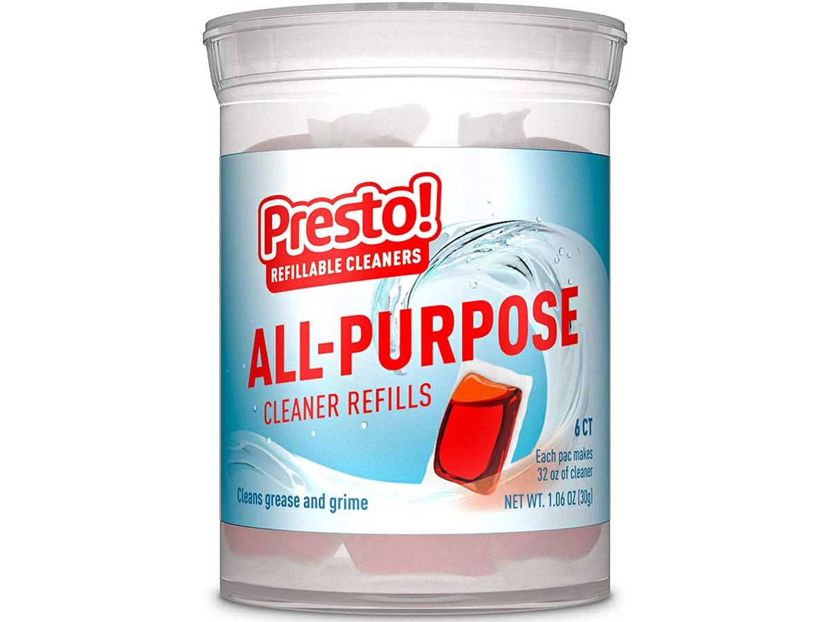 Presto! by Amazon: All-Purpose Cleaner Refills Safely cleans nonporous surfaces, 6-pack (makes 6 bottles of Presto! cleaner), Refill, reuse, reduce