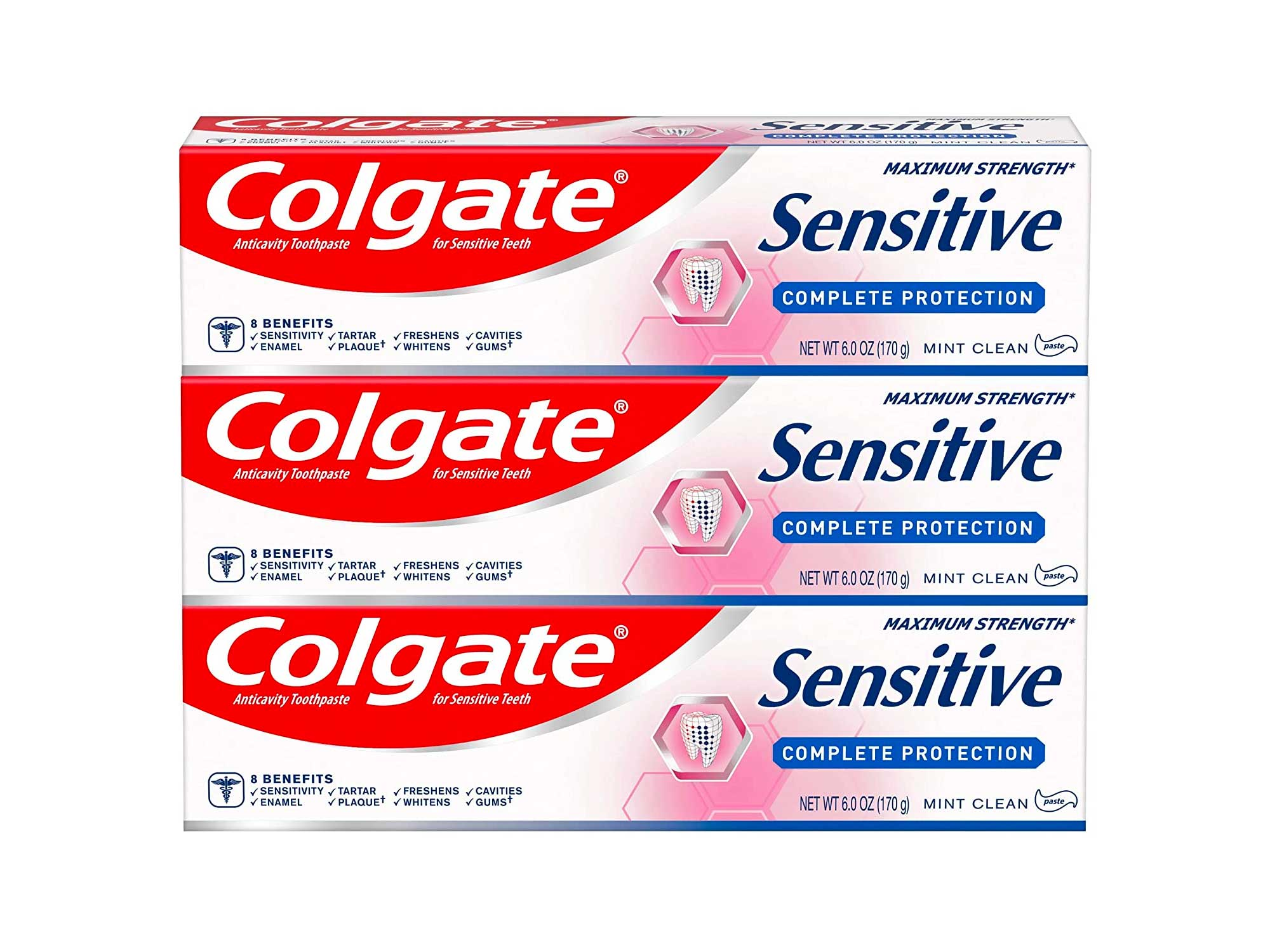 Colgate Sensitive Toothpaste, Complete Protection, Mint - 6 ounce