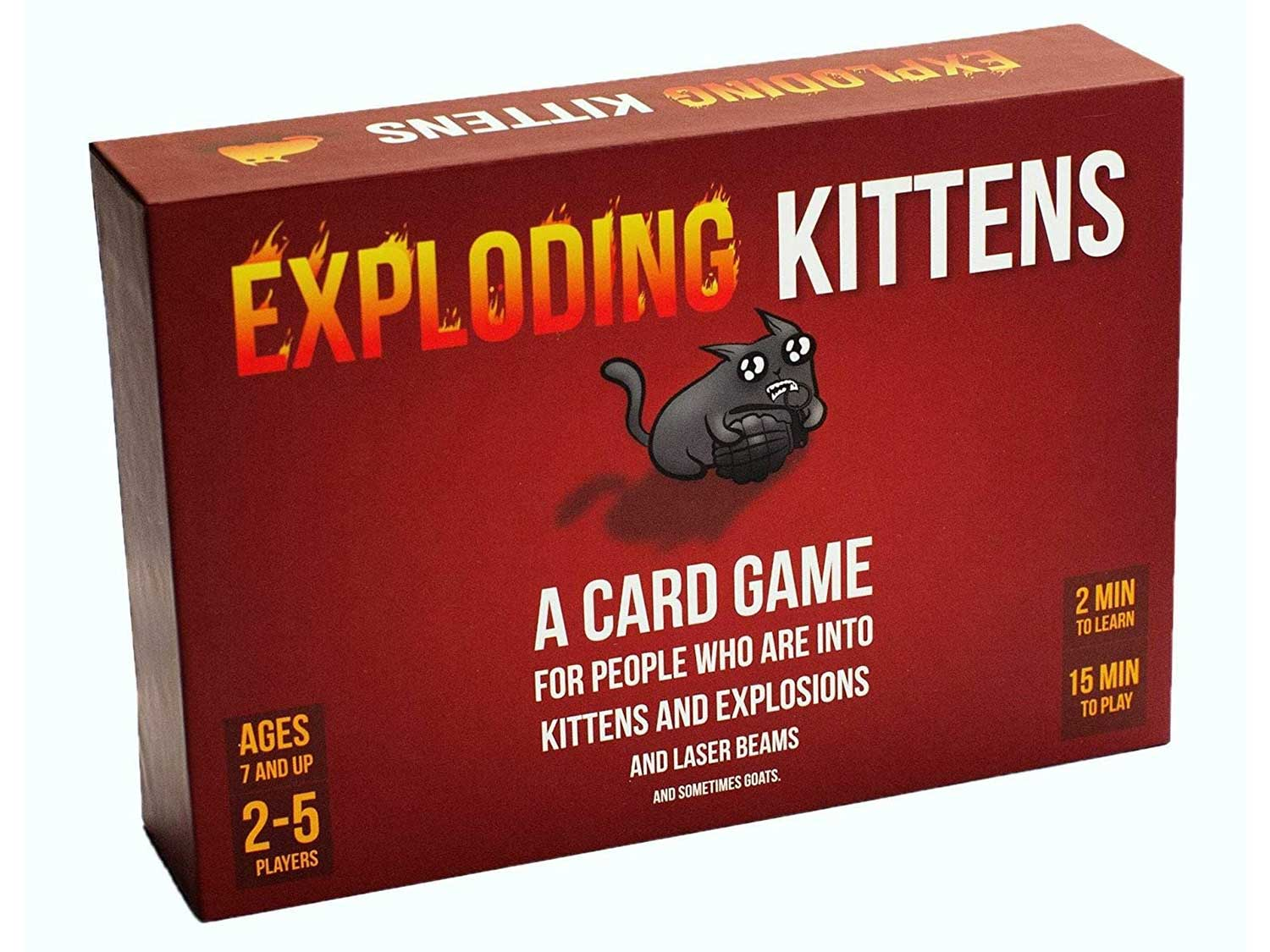 Exploding Kittens Card Game, Red, Large