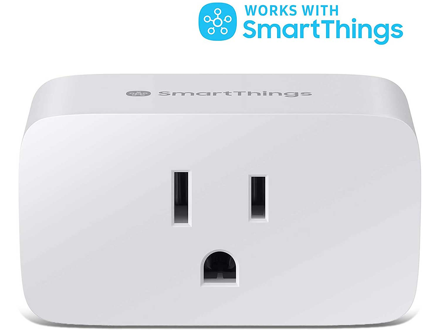 SAMSUNG SmartThings WiFi Plug In Outlet for Smart Home   Control Connected Devices, Monitor Energy Usage, Operate with Voice Commands, No Hub Required   White