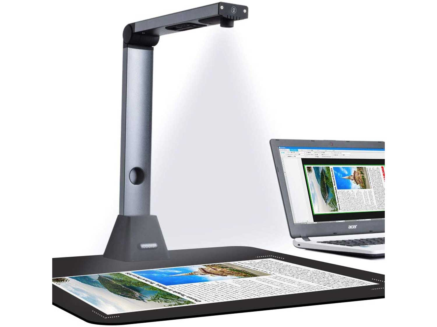 iCODIS Document Camera X3, High Definition Portable Scanner, Capture Size A3, Multi-Language OCR, English Article Recognition, USB, SDK & Twain, Powerful Software