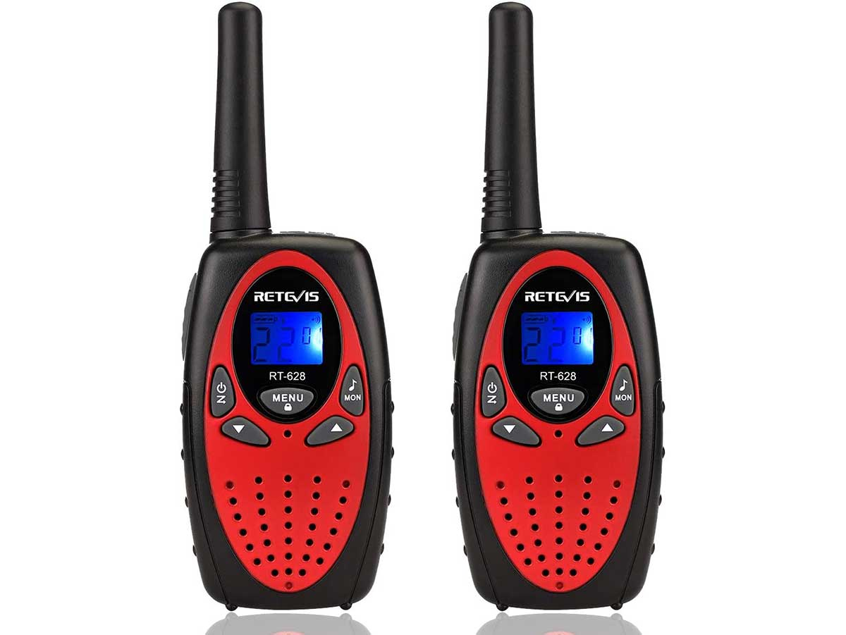 Retevis RT628 Walkie Talkies for Kids ,Toy for Boys and Birthday Gift for Girls, Small Portable Two Way Radio for Family to Camping, Hiking (Red, 2 Pack Camping Toy )