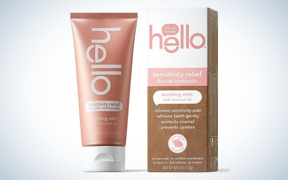Hello Oral Care Sensitivity Relief Toothpaste is the most eco-friendly choice of the best sensitive teeth toothpastes.