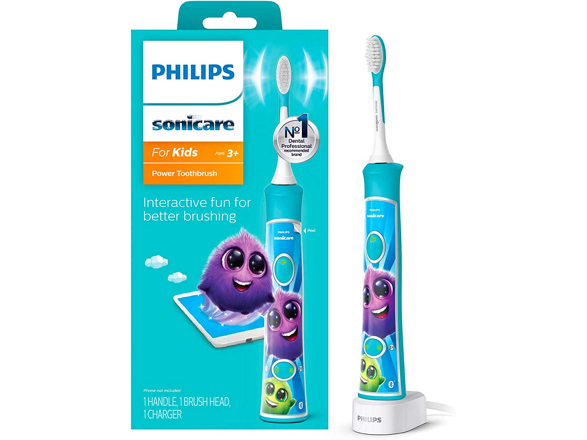Philips Sonicare for Kids Rechargeable Electric Toothbrush, Blue