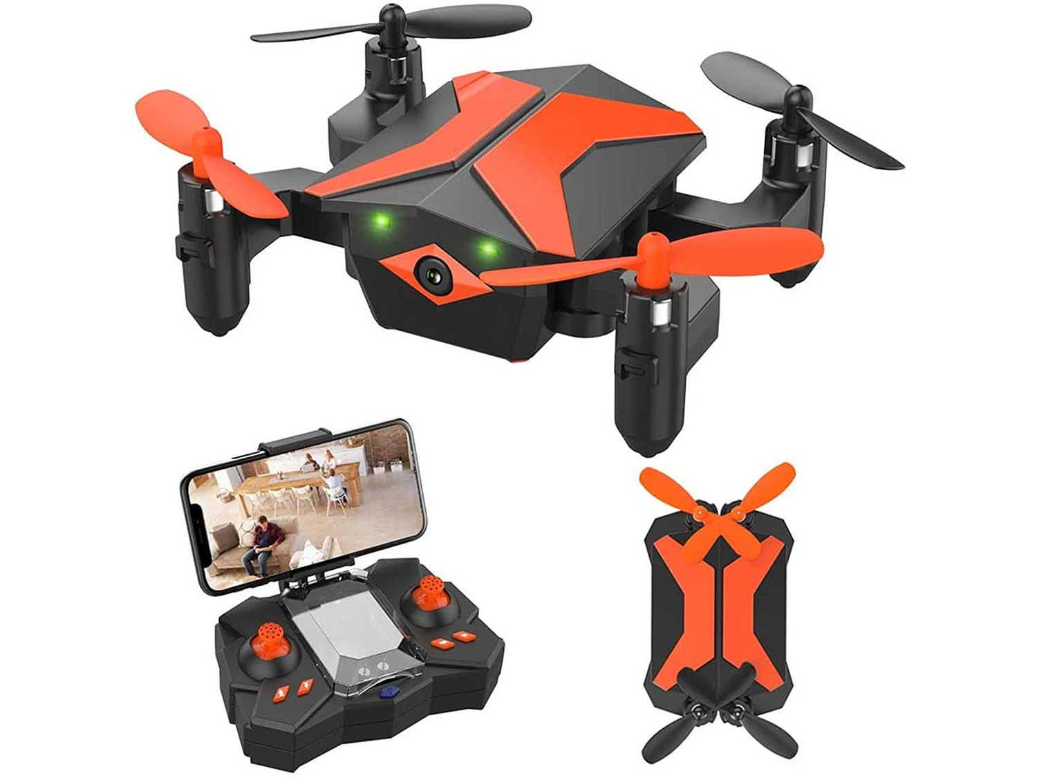 ATTOP Drone for Kids Drones with Camera for Kids and Beginners, AR Game Mode RC Mini Drone w App Gravity Voice Control Trajectory Flight Altitude Hold 360°Flip Kids Drone Foldable and Portable
