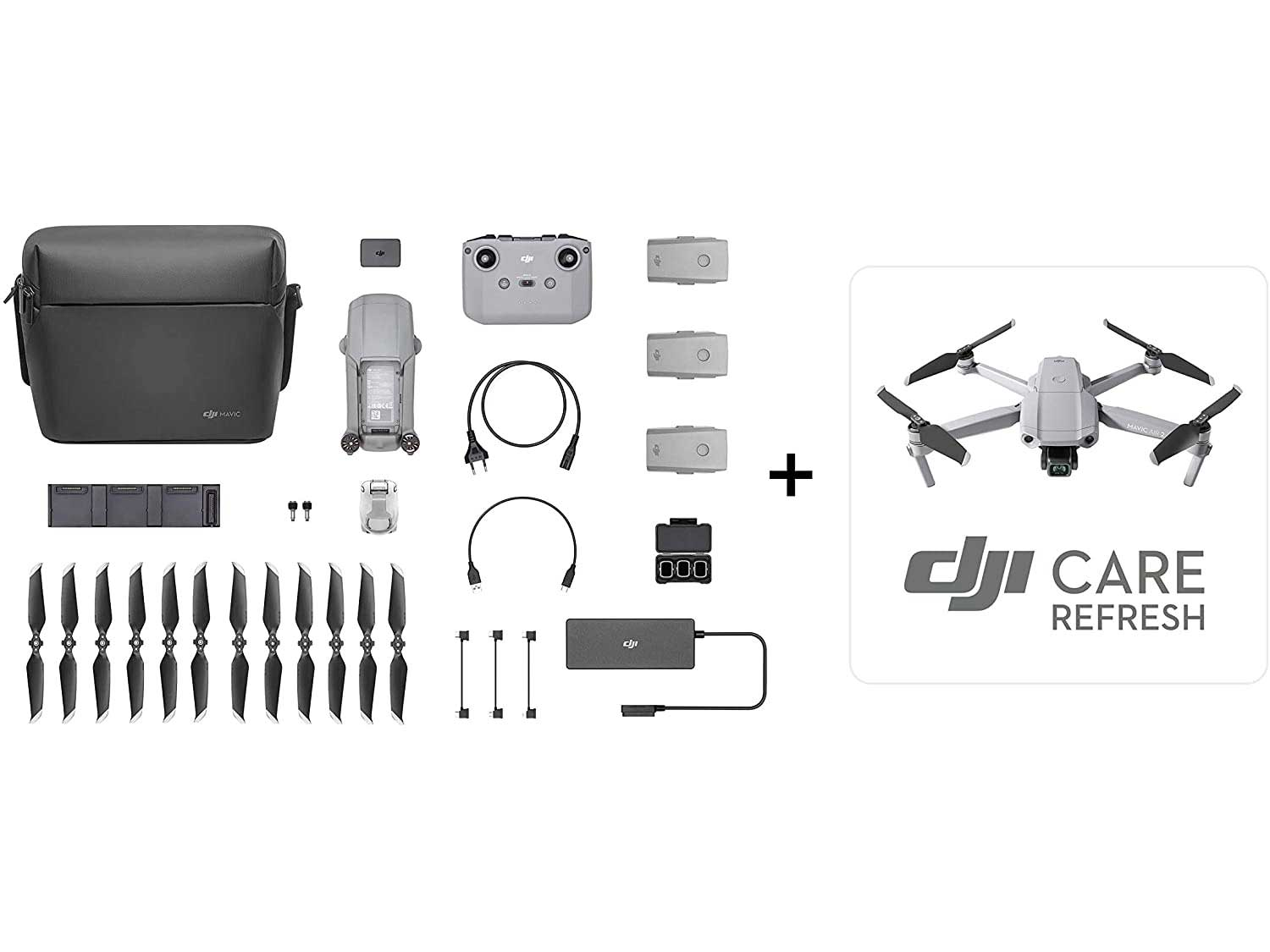 DJI Mavic Air 2 Fly More Combo & Auto-Activated DJI Care Refresh Bundle-Drone Quadcopter UAV with 48MP Camera 4K Video 1/2