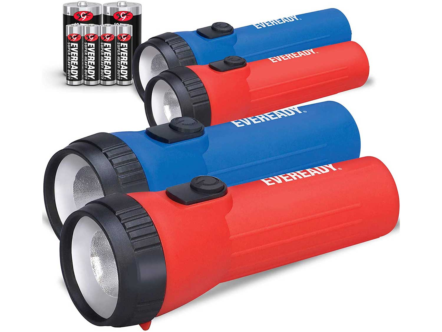 Eveready LED Flashlight Multi-Pack with Batteries, Bright and Durable, Extended Battery Life, Use for Emergencies, Camping, Outdoor, Batteries Included