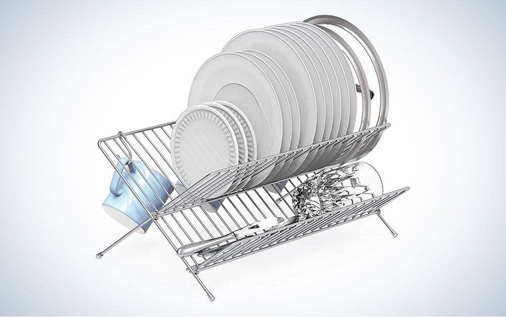 The Simple Houseware Collapsible Drying Rack is the best value.